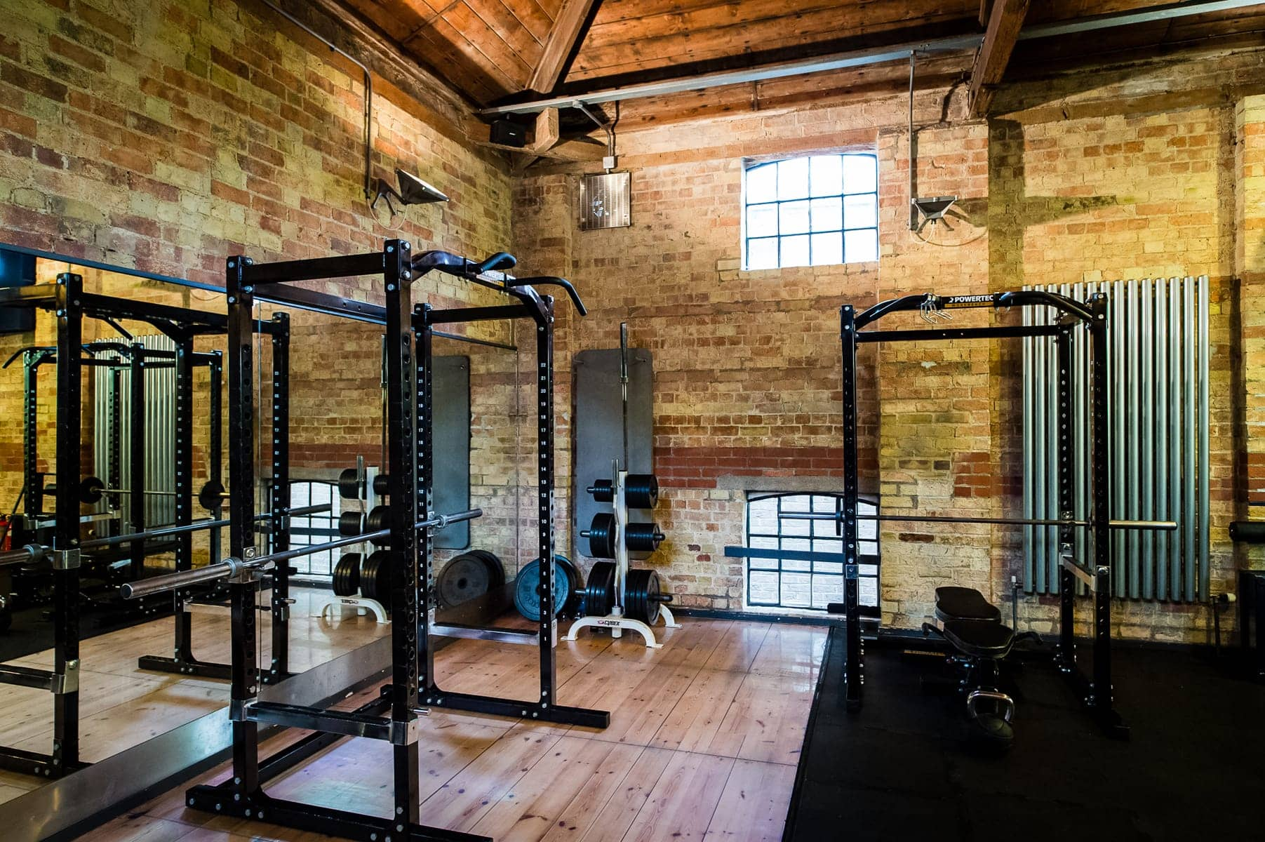 The glassworks Gym, squat rack